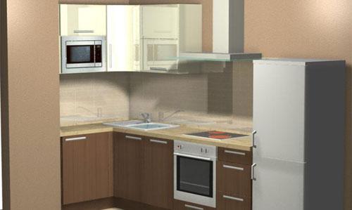 Обустройство кухни маленькой площади